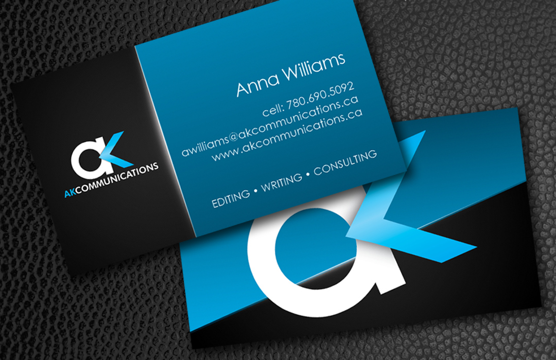 AK Communications Business Cards